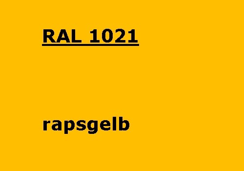 RAL 1021 raps-gelb glänzend