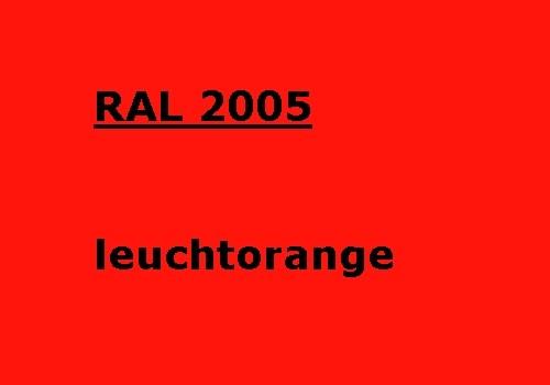 RAL 2005 leucht-orange glatt glänzend