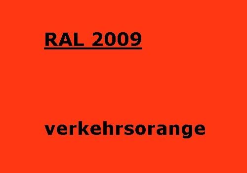 RAL 2009 verkehrs-orange glänzend