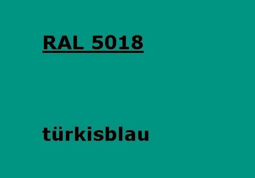 RAL 5018 türkis-blau glänzend