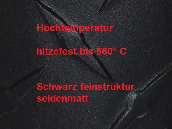 HITZEBESTÄNDIG - 560°C schwarz feinstruktur 250g
