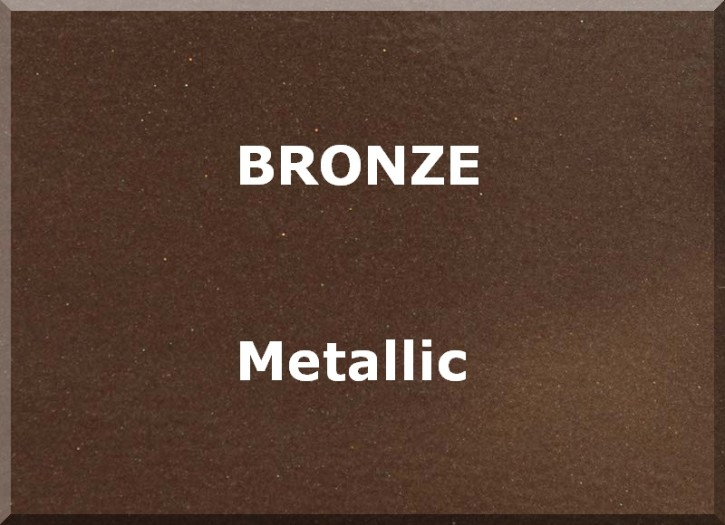 BRONZE EFFECT metallic semi matt