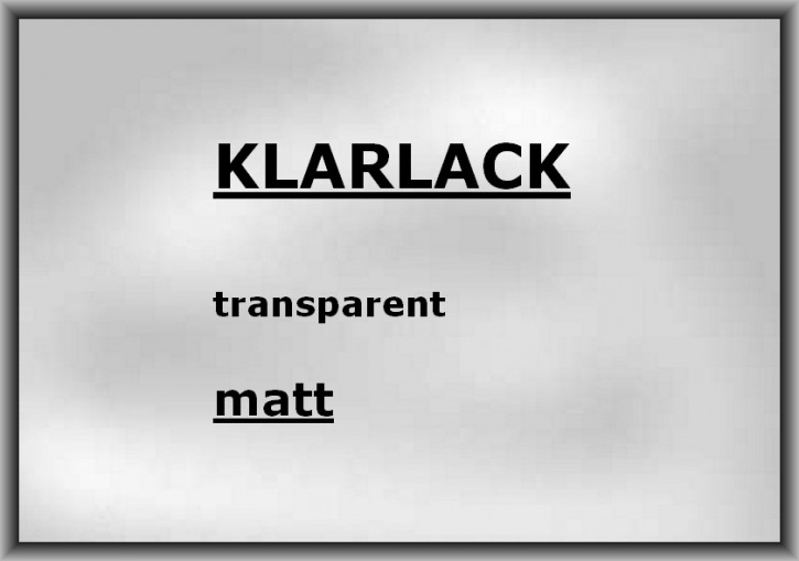 KLARLACK transparent ultra-matt