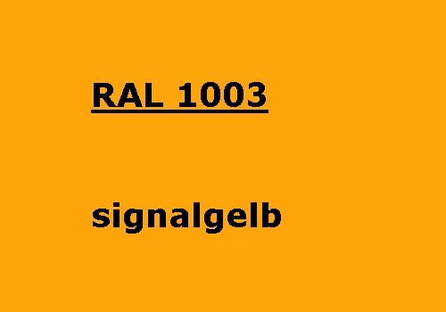 RAL 1003 signal-yellow matt
