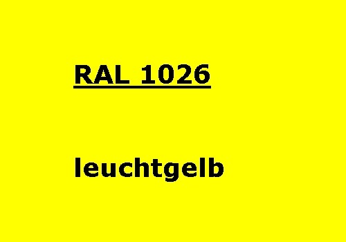 RAL 1026 luminous-yellow glossy