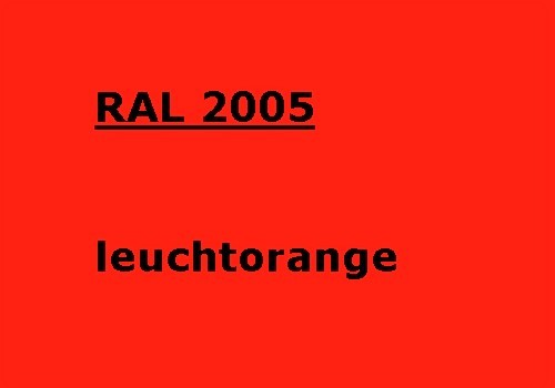 RAL 2005 luminous-orange glossy