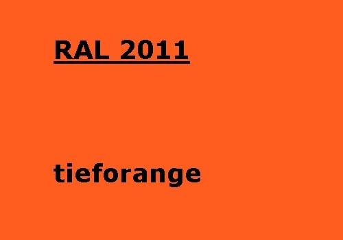 RAL 2011 tief-orange glänzend