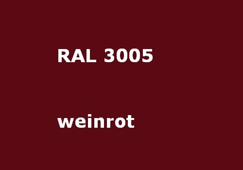 RAL 3005 wine - red - glossy