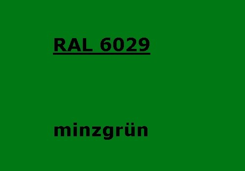 RAL 6029 mint-green glossy