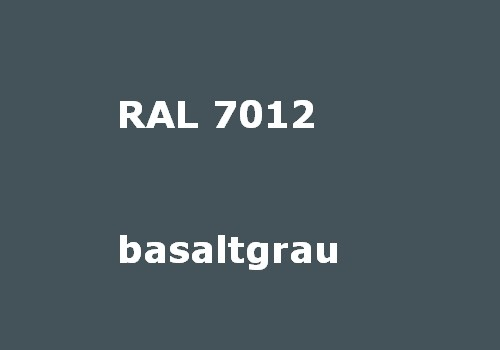 RAL 7012 basalt-grey - matt