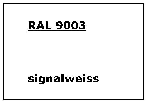 RAL 9003 signal-weiß glatt matt