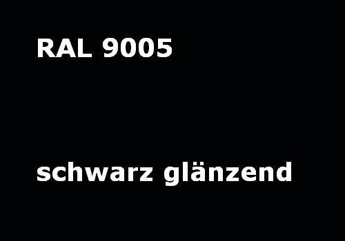 RAL 9005 jet - black - glossy