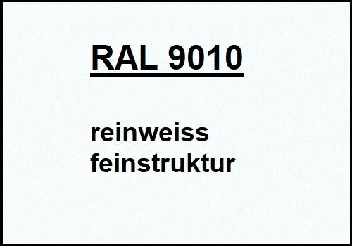 RAL 9010 rein-weiss feinstruktur