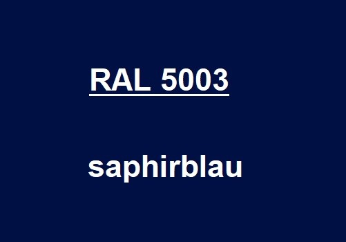 RAL 5003 saphire-blue glossy