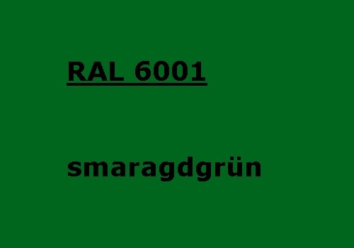 RAL 6001 emerald-green glossy