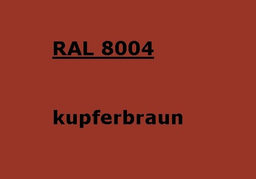 RAL 8004 copper-brown glossy